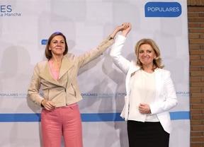 Cospedal con la candidata a la Alcaldía de Tarancón, Mª Jesús Bonilla