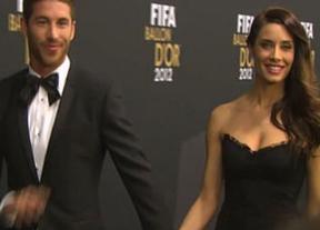 Sergio Ramos dio la campanada en el Balón de Oro con Pilar Rubio