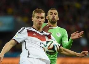 Una Alemania con muchas dudas necesita la prórroga para apuntillar a una Argelia valiente a la que el físico no aguantó (2-1)