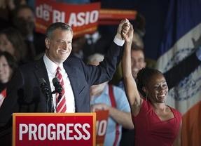 Nueva York gira a la izquierda: el demócrata Bill de Blasio, nuevo alcalde tras 12 años del multimillonario Bloomberg