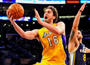 Otro 'doble-doble' de Pau Gasol en el que puede ser su último partido con los Lakers (101-107)