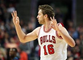 Pau Gasol bate su récord de tapones en la victoria de los Bulls a Denver