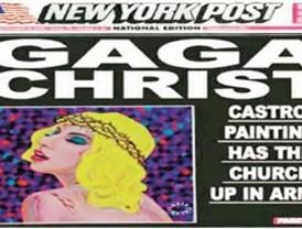 Lady Gaga convertida en Jesucristo