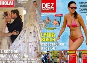La boda de Brad Pitt y Angelina Jolie, un reportaje de mucho ruido y pocas nueces