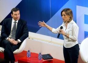 Más leña al PSOE... Carme Chacón reaparecerá para hacerse la foto con el 'archienemigo' de Rubalcaba, Tomás Gómez