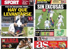 Resumen de la prensa deportiva tras el 1-3 del Madrid al Barça