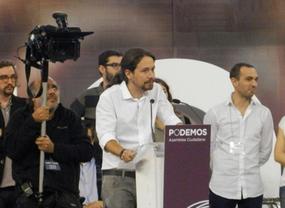 Pablo Iglesias lanza su campaña hacia la Moncloa en Barcelona