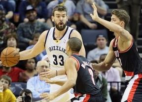 Otra gran jornada de nuestros ÑBA en la NBA con un Marc Gasol, que rozó el 'triple doble' con sus Grizzlies