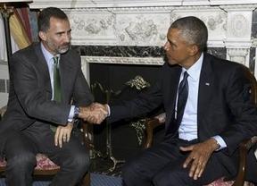 El Rey y Obama se 'estrenan' con una charla de apenas media hora sobre relaciones bilaterales y conflictos internacionales