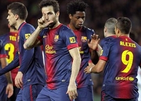 Cesc y Alexis 'suplen' a Messi y al Barça le basta el primer tiempo para cenarse al Mallorca (5-0)