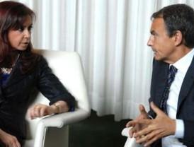 Cristina acordó con Zapatero que viajará a España del 9 al 11 de febrero