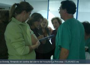 Ana Botella firma en contra del cierre del hospital ordenado por Ignacio González
