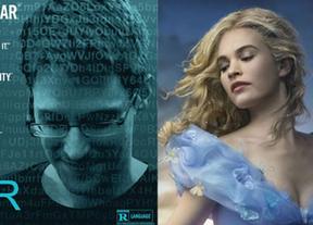 La fantasía de 'La Cenicienta' y la realidad de Edward Snowden se mezclan en la cartelera semanal