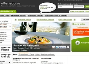 Los restaurantes de Paradores pasan a formar parte de eltenedor.es