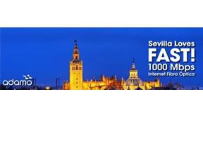 Sevilla se convierte en una ciudad FAST! gracias a los 1.000 Mbps de Fibra Óptica de Adamo