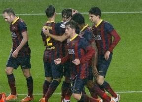 Goleando bajo la lluvia: 'manita' al Levante de un Barça sin Messi ni Neymar (5-1)
