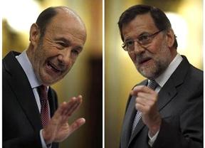 Rajoy y Rubalcaba constatan la voluntad de un acuerdo para Europa que hable de