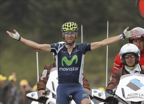Alejandro Valverde cosecha la segunda victoria nacional en el Tour