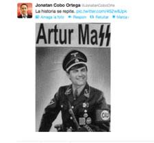 Un concejal del PP catalán recula tras llamar nazi a Artur Mas