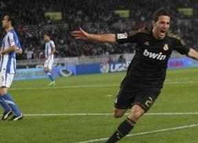 El Madrid se acuesta como líder tras gracias al gol de Higuain ante una Real voluntariosa (0-1)