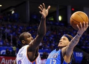 Un gran Ibaka lleva a 'sus' Thunders a derrotar al campeón Dallas en el inicio de los play-offs de la NBA