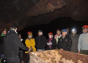 Tecnología de localización en forma de mapa-guía para visitar la mina romana de Cueva del Hierro