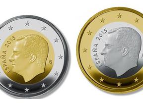 Felipe VI reina ya también en los euros: aparecen las primeras monedas con su imagen