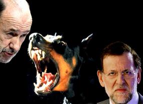 Vuelven los 'dóberman' con aroma preelectoral: Rubalcaba acusa a Rajoy de gesto 'autoritario' y Cospedal disculpa a su jefe