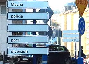 Mucha policía... poca diversión... En Santander