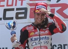 La toledana María Herrera, primera mujer en ganar en Moto3