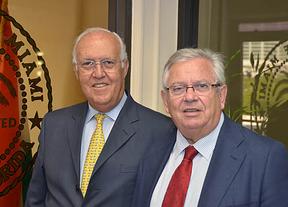 Manuel Herrera presidente de MiamiDiario y Fernando Jáuregui presidente de DiarioCritico