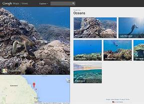 Google Street View Océnaos invita al usuario a bucear sin salir de casa