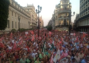 Los sindicatos cuentan más de 400.000 en las protestas contra los recortes de Andalucía