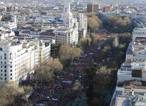 Sonoro aviso al Gobierno: una multitudinaria 'Marcha de la Dignidad' clama contra la política de recortes