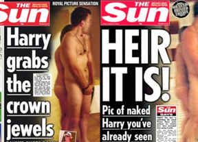 'The Sun' usa a su becaria al recrear el desnudo del príncipe Harry