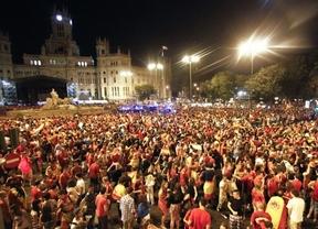La celebración callejera tras el triunfo de la Eurocopa, mejor que en anteriores ocasiones