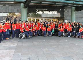 El equipo paralímpico español visita El Corte Inglés