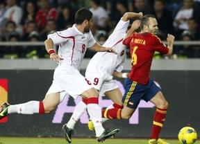 Iniesta, máximo protagonista de una Roja que busca golear a Georgia y cerrar la clasificación a Brasil'14