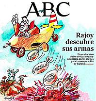 La portada de 'ABC': Rajoy bombardea España