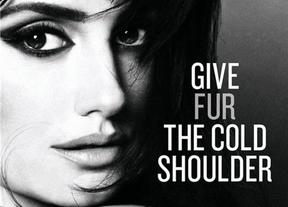 Penélope Cruz se desnuda como crítica al uso de pieles animales