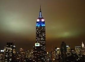El emblemático 'Empire State Building', barómetro electoral
