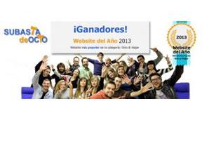 Los españoles eligen SubastadeOcio.es como Website del Año