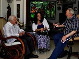 "Elogia ex presidente de Cuba Fidel Castro, ""a su amigo"" Jimmy Carter"