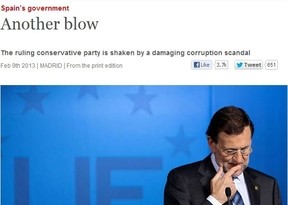'The Economist' explica lo que es un chorizo bajo la foto de Rajoy