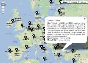 14-N: Mapa interactivo de los 'puntos calientes' de la huelga general en Europa