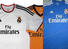 Desveladas las 3 camisetas del Real Madrid para la próxima temporada 2013/2014: blanca, azul y naranja