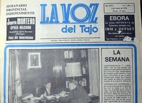 Primera portada del periódico hace 36 años