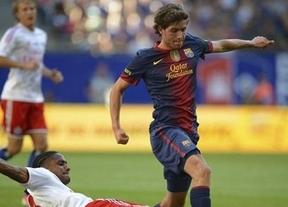 La 'era Vilanova' se estrena con una victoria (2-1) ante el Hamburgo