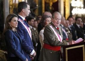 Elogios monárquicos a un Rey cansado que ofreció en la Pascua Militar el gesto más débil que se le recuerde