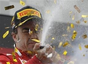 El español Alonso gana en Alemania con un coche italiano y griego y un patrocinio de un banco nacional...